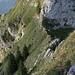 Steil: Abstieg zur Combigabel.