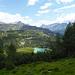 In der Nähe von Costa da l'Om. Rückblick nach Alp Grüm und Lagh da Palü.