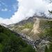 Hier ist die Stelle zu sehen wo der Wanderweg unterbrochen war (Große Rinne oberhalb der Wasserfall).