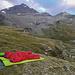 Unser Biwakplatz oberhalb vom Guraletschsee