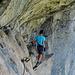 Der Klettersteig wartet mit  einzelnen, wenigen Überraschungen auf.