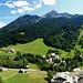 """Panoramabild mit dem """"Mont de Grange"""", welchen wir in den Ferien auch bestiegen haben."""