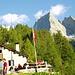 Sasc Furä Hütte mit der Nordkante des Badile