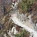 Il tratto di sentiero tra il bivio di Dröi e i monti di Comino