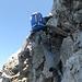 Auf zur letzten Seillänge nach fast 1000 Höhenmetern  Kletterei.
