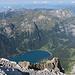Rückblick vom Gipfel auf den brüchigen Grat