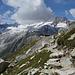 Bergseehütte vom Beginn des Abstiegs, ab hier wieder auf gutem Bergweg.