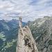 Am Gipfel, davor die Fiamma