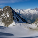 Tiefblick auf den Nordgrat des Lagginhorns