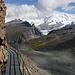 Blick vom Hüttenweg in's benachbarte Monte Rosa.