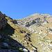 Le sommet du Brunnethorn.<br /><br />A noter: une modeste sente qui monte à la Brunnetlicke, à l'ombre de la falaise.