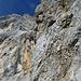 Blick nach Westen in die brüchigen Steilwände