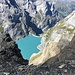 Vue plongeante sur le Limmerensee depuis les alentours de la Kistenpasshütte, 900m plus haut.