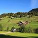von hier aus gehe ich alles dieser Alpstrasse nach über Wart bis nach Unterscherlet, wo auch das letzte Bauernhaus ist.
