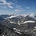 Monte Viso, La Croix Rousse, Ouille d'Arbéron und La Bessanese vom Gipfel aus gesehen.