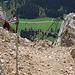 Schartschrofen, Einstieg zum Friedberger Klettersteig