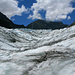 Etwa auf der Mitte des Gletschers