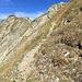 steil sind die letzten Meter vor dem Gipfel