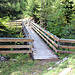 Pont sur le gouffre de Tsarein. Visiblement construit pour le bétail.