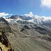 Klettersteig Jegihorn, im Hintergrund der Weissmies - Schönste Erinnerungen an diesen Berg werden wach :-D