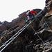 Die letzte Leiter im Aufstieg zum Nebengipfel des Jegihornes.