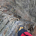 Auch auf der einfacheren Variante des Jegihorn Klettersteiges gibt es interessante Wegabschnitte.