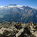 Das Gipfelpanorama Richtung Mischabel.