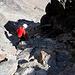 Auf dem alpinen Wanderweg vom Jegihorn runter.