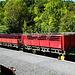 Train rouge de pays Cathare, die offenen Touristikwagen