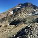 Das Lagginhorn, der Rote Punkt war in etwa unser Umkehrpunkt :-/ Wenige Meter unter dem Gipfel.