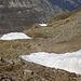 Auch weiter unten gibt's noch verschiedene Schneedepots