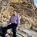 Einstieg in die Felsstufe mit einem Lächeln