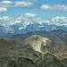 Vulkan im Alpenraum: Monte Garone (3030m), im Hintergrund der Ortler (teilweise in den Wolken)