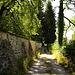 Sentier des Pauvres entlang der Mauer