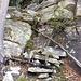 Der Treppenrest auf dem Sporn, ca. 1250 m