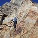 Die Kletterei zum Gipfelkopf