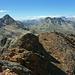 Auf dem Piz Pischa (3138m), links Piz Languard (3262m), rechts Piz Vadret (3199m)