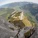 Tiefblick von der zweiten Kletterstelle
