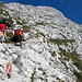 Am nächsten Tag der Aufstieg über den Josefinisteig zum Hochtor (2369m). Hier das typ. Gelände auf diesem Steig auf ca. 2000m Höhe. Über lange Strecken verläuft der Weg in der sonnenbeschienenen SO-Flanke.