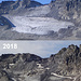 Vergleich 2006-2018 - ein Gletscher verschwindet. <br />Das Vergleichs-Bild wurde durch [https://www.srf.ch/news/schweiz/gletscher-schrumpfen-massiver-eisverlust-wegen-hitzesommer diesen] SRF Tagesschau Beitrag auch einem breiteren Publikum zugänglich