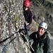 Ich und Christoph im Klettersteig zur Tierberglihütte.