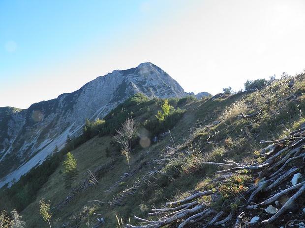 wildes rustikales Gelände am Grat Richtung Aiplspitze