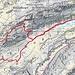 Routenverlauf (ab Bollenwees)<br /><br />Quelle: SchweizMobil