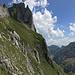 BlackYak auf dem Gipfel des Fählenschafberg, im Vordergrund der Wiesenhang (Abstieg)