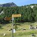 Vista sulle strutture provvisorie dell'Alpe di Pozzo.