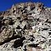 Im Felskopf zwischen 2900m und 3000m