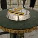 In der Aussichtskugel des Bajterek-Turm mit Händeabdruck von Nursultan Nasarbajew.