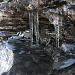Eiszapfen im oberen Teil des Steiges