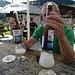 Bier mit Flaschengärung, eine etwas überschäumende Puschlaver Spezialität