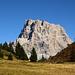 L'impressionnant Monte Pelmo (3168m) dans la montée au refuge Coldai